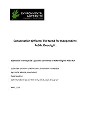 Cover Police Act Review Submission
